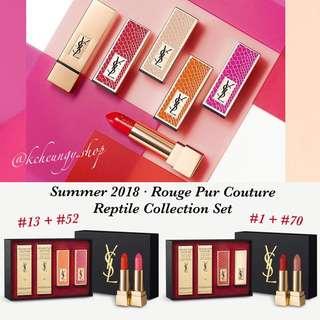 [限量版預訂] YSL Rouge Pur Couture Reptile Collection Set 3.8g x 2 | YSL 01 + YSL 70 | YSL 13 + YSL 52 | Limited Edition 2018