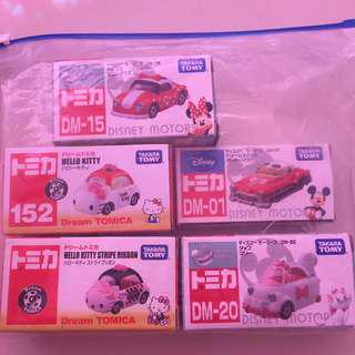 Takara Tomy Car Disney & Hello Kitty (1car is rm60)