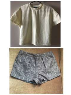 Top and shorts ootd Medium size