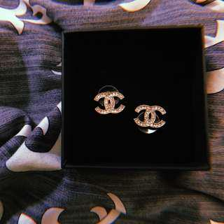 BNIP Chanel inspired earrings