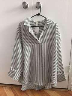 Striped Blouse Dress (M)