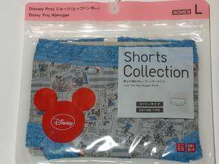 🚚 <日本購> Uniqlo米奇Mickey Mouse灰底藍邊蕾絲內褲