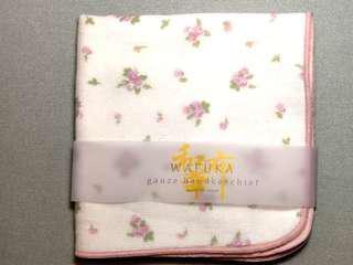 🚚 日本WAFUKA和布華小花手帕/紗布巾