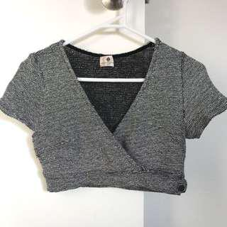 Sparkly Wrap Crop