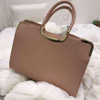 🔥 Pink Gold Rimmed Bag
