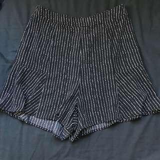 Lulu and rose black and white high waisted skorts shorts skirt