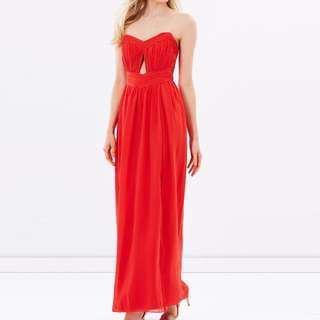 BNWT Red Cut-out Maxi Dress