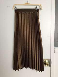 OAK+FORT Metallic Pleated Skirt