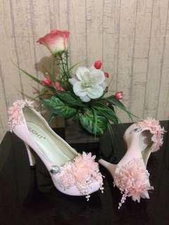 SlightShoes -- PEEPTOE CHERY PEACH -- Heels 9cm | Preloved Like New