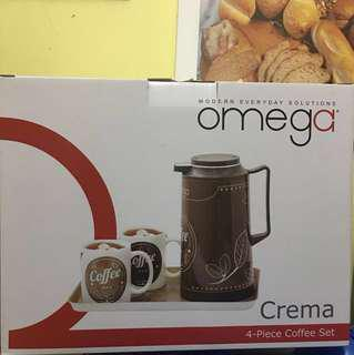 Omega Kettle with Coffee Mug and Tray