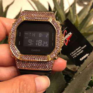 🚚 Gshock rare! Pink and Gold customised 5600