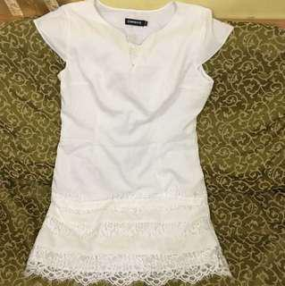 White Dress Size: Medium (for shipping only)