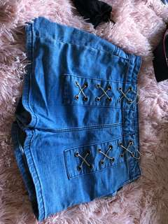 Cotton on deluxe denim shorts size 10