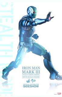 "HOT TOYS 1/6 SCALE 12"" IRON MAN MARK 3 III Stealth mode DIECAST ACTION FIGURE MMS 314 2015 STGCC EXCLUSIVE"