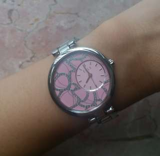 Pink Elle watch女裝錶(wrist up to 18cm)