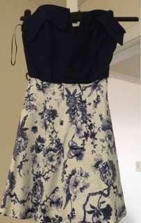 Modcloth strapless blue dress. Size XS