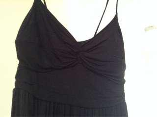 Seduction black cotton dress. Size xs.