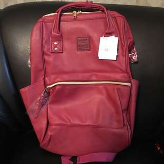 Anello Leather backpack (wine red)