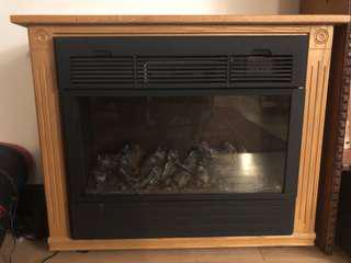 Handmade Amish electronic fireplace