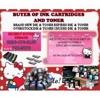Highest Price Buyer of Expired and Empty Ink Cartridges and Toners