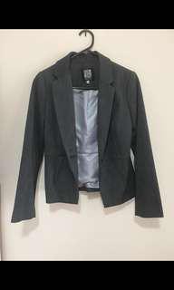Gorgeous Grey Fitted Blazer Jacket - Size S BNWOT