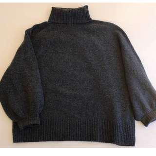 H&M+ charcoal knitted turtleneck