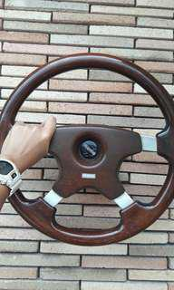Vintage Momo Wood Steering Wheel