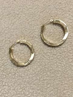 RUSH SALE 14k Light Gold Hoops