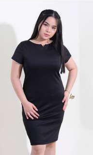 Black mini v dress