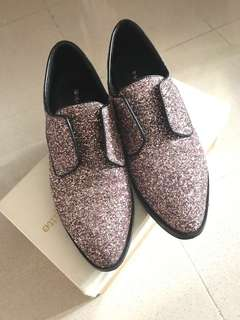 🈹i.t. pink glittering  Oxford shoes 粉紅閃閃珍珠牛津鞋
