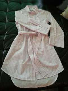 H &M pink stripes long shirt/dress