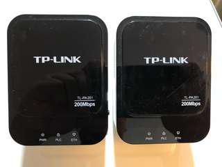 中古Powerline Adaptor, Homeplug AV 200MB, TP-Link
