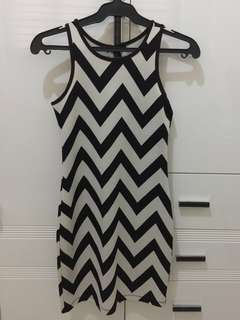 Forever21 Black White Striped Dress