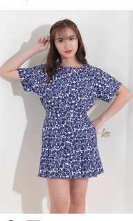 Blue Floral Skirts Coordinates
