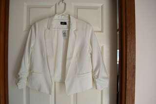 white dotti blazer