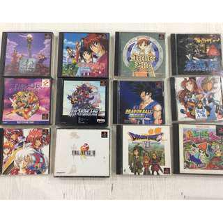 Playstation 1 Japanese Games with Manuals PS1 - 350 each