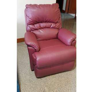 Full Genuine Leather Recliner Chair