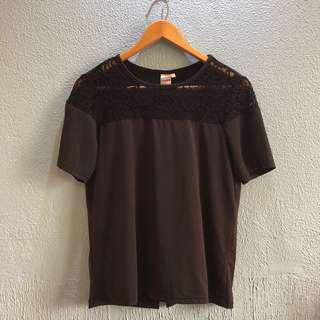Poetry black lace top