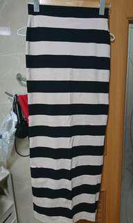 🚚 Forever21 條紋棉質長裙