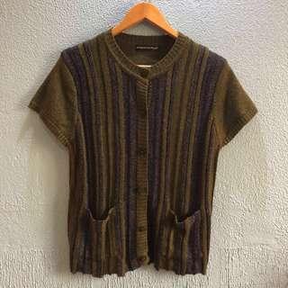 Green Knit Topper w/ Pockets