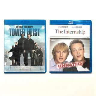 2 x Blu-ray Movies Tower Heist and The Internship