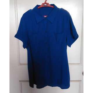 Blue Short-sleeved Polo