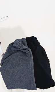 Black men's short with pockets