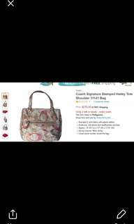 100% coach bag stamped hailey