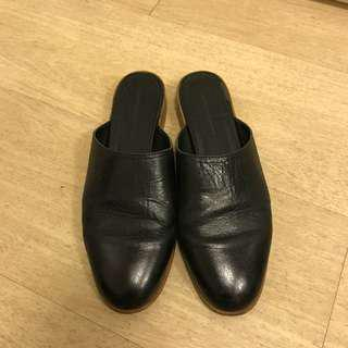 🈹Zara black flat黑色平底鞋