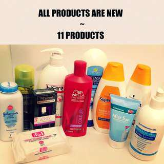 HEALTHY SKIN/ BEAUTY/ HAIR 11 PRODUCTS