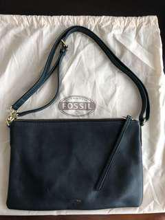 Fossil clutch bag with sling