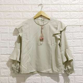 BARU NEGO TIPIS Samantha Blouse Light Green