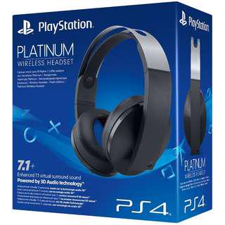 PS4 PLATINUM HEADSET 7.1 CHANNEL 3D AUDIO