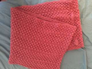 Dusty Pink Scarf Wrap Good Condition